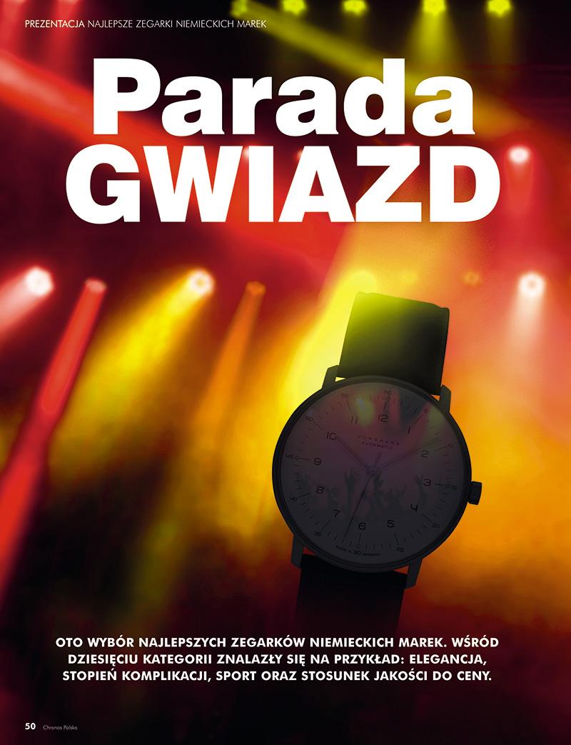 Parada gwiazd - Najlepsze zegarki niemieckich marek (Chronos 1/2019, str. 50-56)