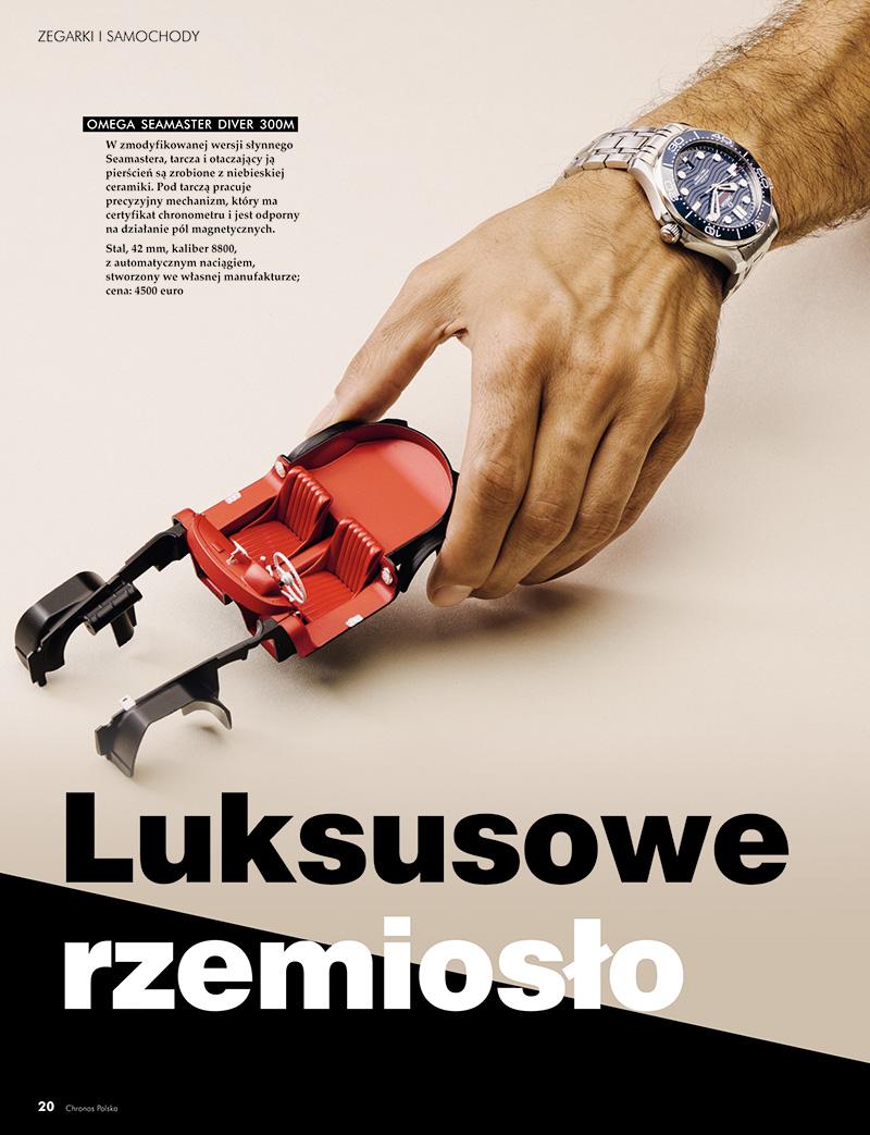 Zegarki i samochody - Luksusowe rzemiosło (Chronos 1/2019, str. 20-25)